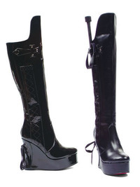 475-Sadie, 475-Sadie, Wedge Boot with Whip * Made by ELLIE Shoes