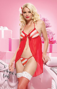Babydoll with Candy Cane Striped * 31038