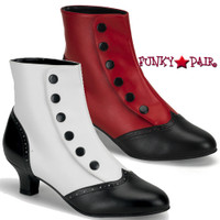 FLORA-1023, Ankle Boot with Buttons Made By Bordello
