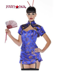 M0028, China Doll costume includes a corset, skirt and bolero jacket