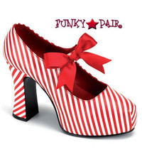 CANDYCANE-48, 4 Inch Christmas Shoes