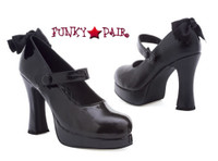 425-Glenda, Chunky Heel Goth Mary Jane Platforms Made By ELLIE Shoes