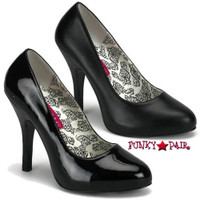 Temp-38, 4.5 Inch High Heel Basic Pump Made By Bordello
