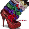 Teeze-10G, 5.75 Inch High Heel with 1.75 Inch Glitter Platform Pump