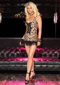 Leopard Print Mini Dress * 28013
