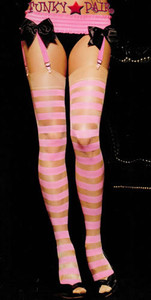 1007, Sheer stockings with opaque stripes