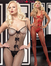 Industrial Net Bodystocking with Bows * 89052