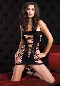 86091, Strappy Spandex Mini Dress