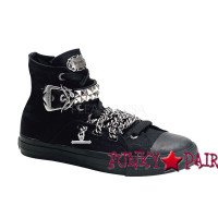 Deviant-110, Hight top sneaker with metal detail