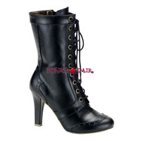 Tesla-102, Steam punk calf Women gothic boots Mady By Demonia