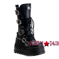 Stomp-101, Punk Cyber Lace Women gothic boots Mady By Demonia