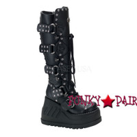 Stomp-313, Goth Gogo Boots with Studs Women gothic boots Mady By Demonia