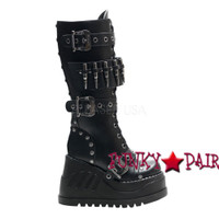 Stomp-314, Punk Military Women gothic boots Mady By Demonia