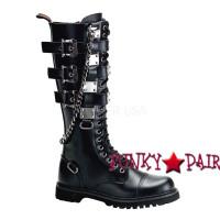 Gravel-23, Combat boots with metal plates,Demonia Gothic