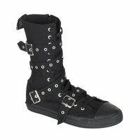 DEVIANT-204, Canvas  Calf Sneaker Boot Made by Demonia