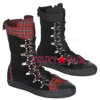 DEVIANT-205, Suede D-Ring Calf Sneaker Boot Made by Demonia