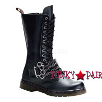 Disorder-301, combat boots with brass knucles,Demonia Gothic