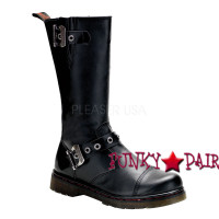 Disorder-304, Motorcycle calf Demonia Gothic  Boots