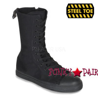 TYRANT-201ST, Canvas Calf Steel Toe Sneaker Boot Made by Demonia