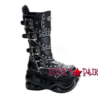 Calf Cyber Boot with Zipper Design (Boxer-203)