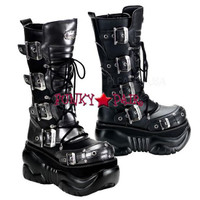 Cyber Boot with Buckles Design,Demonia Gothic  Boots