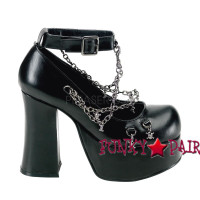 Goth Punk Pump with Ankle Strap Mary Jane Made by Demonia