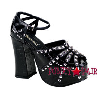 Goth Punk Ankle Strap Sandal with Studs Made by Demonia
