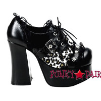 Goth Punk Oxford with skulls