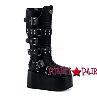 RIPSAW-520, Goth Punk Boots with Studds,Demonia Gothic