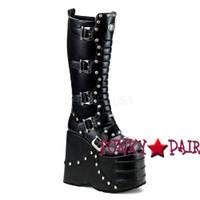 Stack-317, Goth Cyber Gogo platform Demonia Gothic  Boots