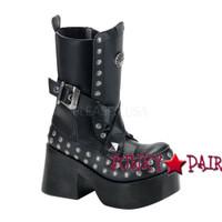 Platoon-205, Goth Punk Studds Women Punk boots Mady By Demonia