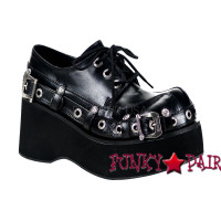 Dank-151, Punk Bondage Strap Shoes Made by Demonia