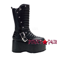 Wicked-701, Goth Punk Boot with Studs,Demonia Punk