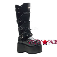 Wicked-732, Goth Punk Boots with Straps and Studs