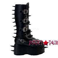 Wicked-808, Goth Punk Boots with Spikes,Demonia Punk  Boots