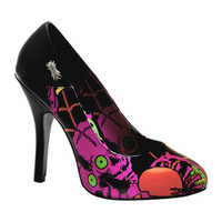 Zombie-02, 4.5 Inch Pump with Eyeball Prints Made by Demonia