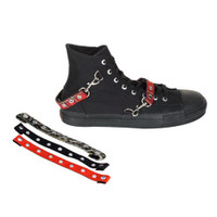 DEVIANT-107, Canvas Bondage High Top Sneaker Made by Demonia