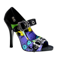 Zombie-09, Punk Peep Toe MaryJane Pump Made by Demonia