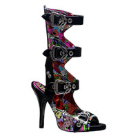 Zombie-102, Four Buckles sandal Made by Demonia