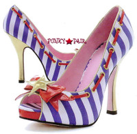 LA453-MARINA, 4 Inch High Heel Shoes with bow Made by LEG AVENUE Costume Shoes