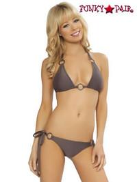 2120, GunpowderMetal Rings Bikini Set