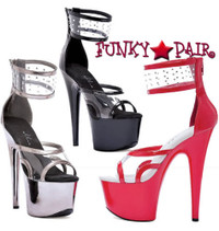 709-Enya, 7 Inch Stiletto High Heel with 2.75 Inch Platform Made By ELLIE Shoes