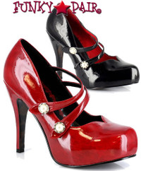 BP410-Jin, Vintage Double Strap Pump Made By Bettie Page Shoes
