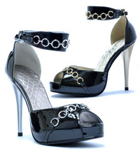 428-Cuff, 4 Inch High Heel Sandal with Cuffs Made By ELLIE Shoes