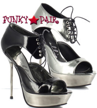 567-Alina, 5 Inch Metallic Stiletto High Heel with 1 Inch Platform Sandal Made by ELLIE Shoes