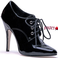 E-8253, 5 Inch High Heel Black Patent Pumps Made by ELLIE Shoes