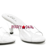 305-Vanity, Clear Dress Shoes Made By ELLIE Shoes