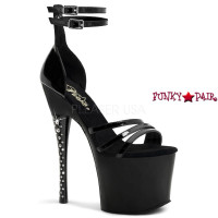 Diamond-770, 7 inch stiletto heel with 3.25 inch platform with Rhinestones Heel Sandal with Multi Straps Closed Back
