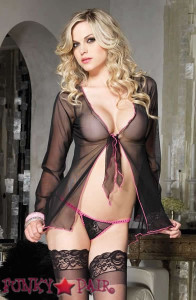 Bell Sleeved Babydoll with G-String * 86374