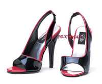 510-Lucia, 5 Inch High Heel Two Tone Slingback Shoes Made by ELLIE Shoes